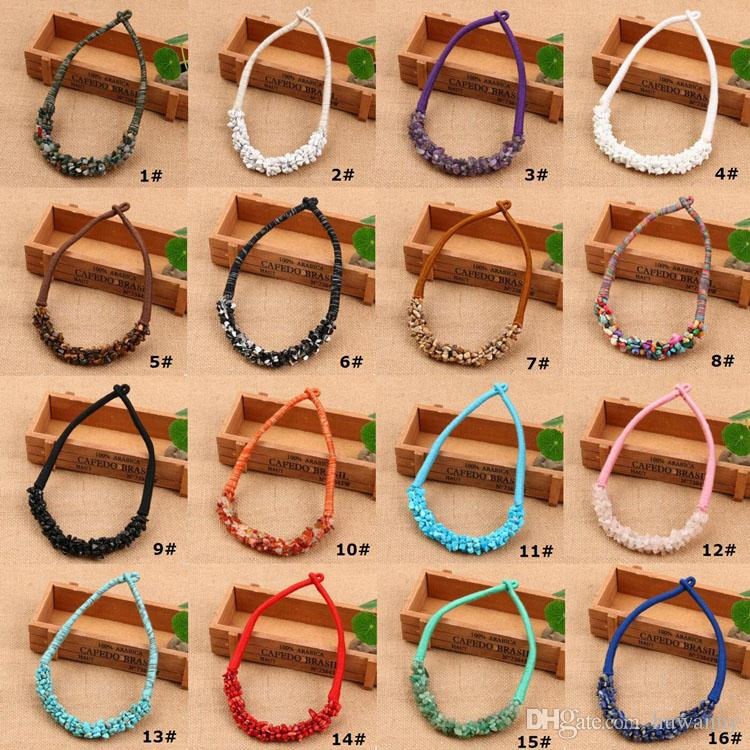 Bohemian Necklace Necklaces Hot Sale Colorful Natural Stone Chockers Necklaces For Women Girl Jewelry Wholesale 0606WH