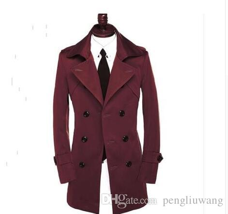 394ae4c21390c 2019 Autumn Slim Sexy Double Breasted Trench Coat Men Long Sleeve Outerwear  Mens Trench Coat Clothing Belt Modern Urban Plus Size 9XL From Pengliuwang