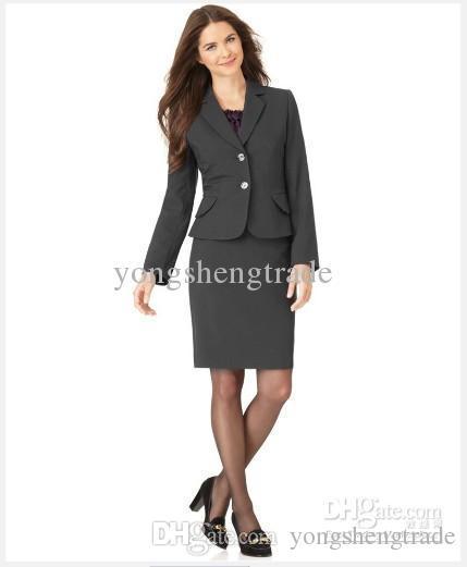 39853656650 Acheter Costumes Femme Vêtements Femme Costume Tailleur Veste À Manches  Longues Jupe Crayon Femme Noire Costume De  88.85 Du Yongshengtrade