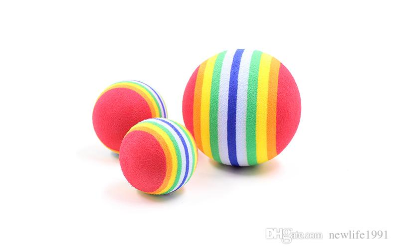High Quality Pet Ball Cat And Dog Lovely Training Rainbow Balls Fetch Throw Or Chew New Arrival Puppy Ball Toys 9B03