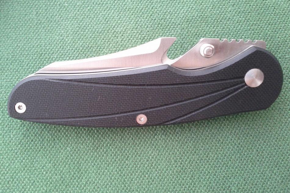 Enlan BEE L02-1 Coltello da tasca pieghevole G10 Manico da campo Survive Caccia da campeggio Autodifesa da pesca Escursionismo 8cr13mov Taglia-cinghia d'acciaio