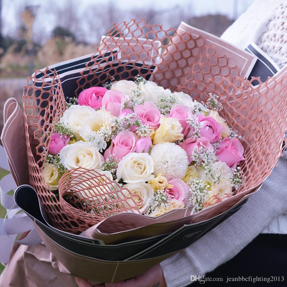 Korean Flowers Packaging Materials New Hollow Center Network Series