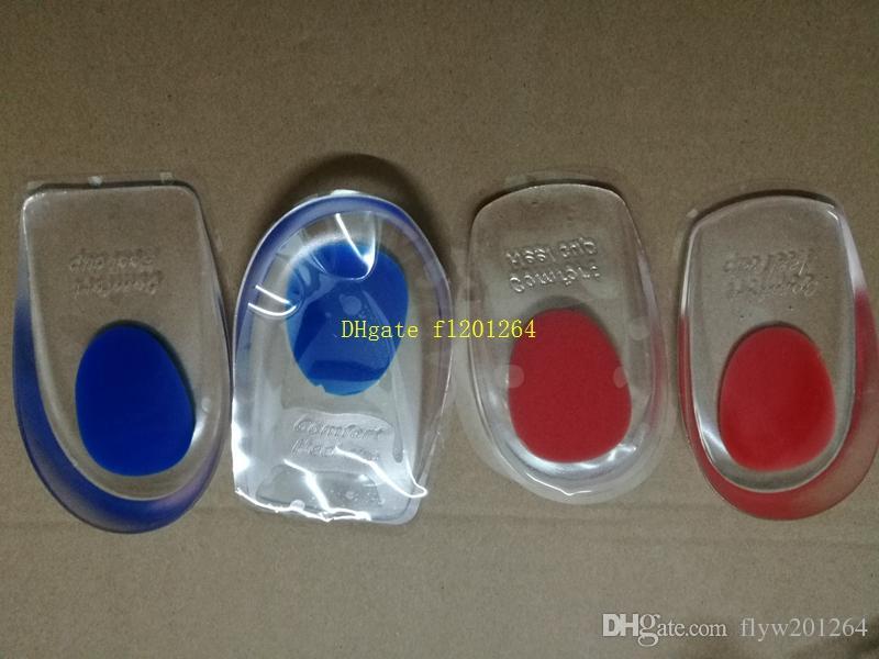 Fedex DHL Ücretsiz Kargo Silikon Jel Tabanlık Topuk Pad Erkekler Kadınlar Için Ayak Bakımı Bardak 100 adet / grup =