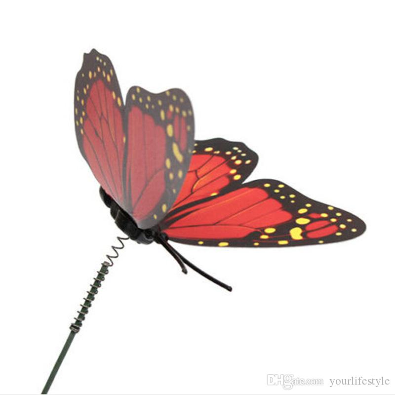 New Lovely Butterfly On Sticks Popular Art Garden Vase Lawn Craft Decoration Great Bedroom Modern DIY Decor