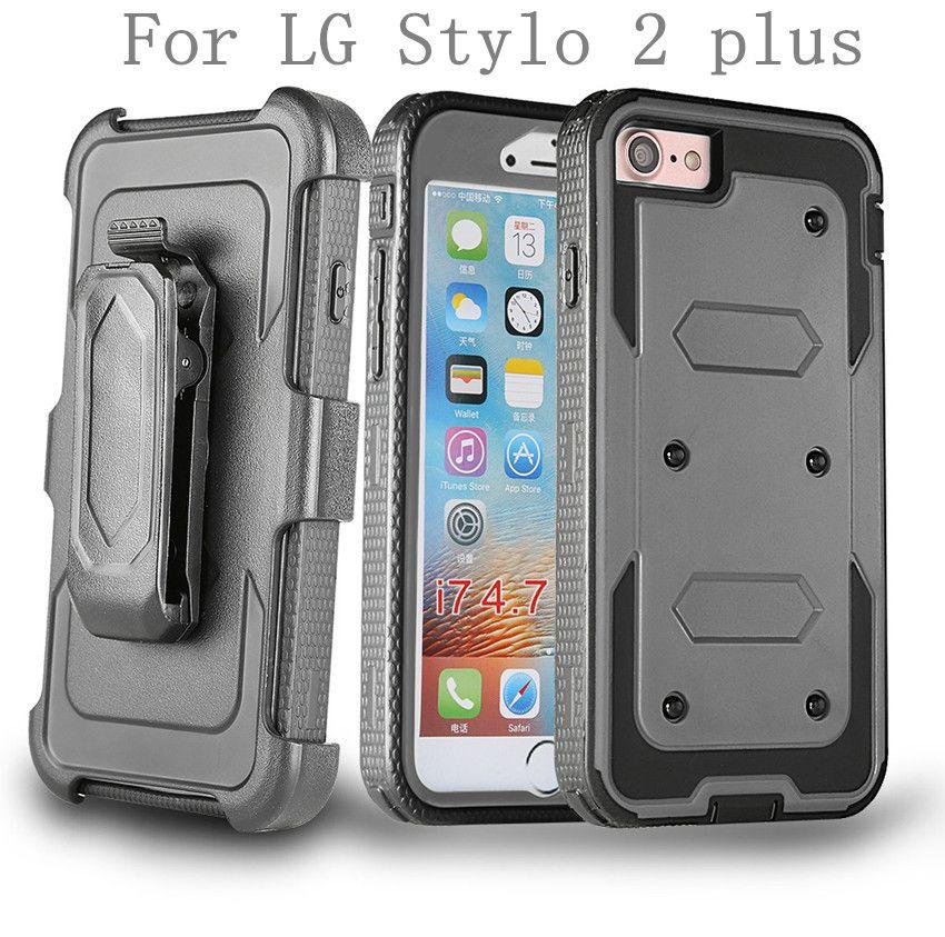 huge discount aa251 77b80 For LG Stylus 2 LS775 Stylo 2 plus MS550 PRO V10 G Stylo Hybrid Armor phone  Case Holster Combo Shockproof cover Belt clip