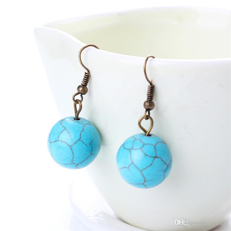 3 шт. набор свинца и никеля бесплатно качество бирюзовый ювелирные наборы ожерелье женщины серьги браслеты HD-180
