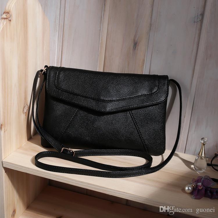 Top quality women's leather envelope shoulder bags ladies small vintage summer handbags crossbody sling messenger bag