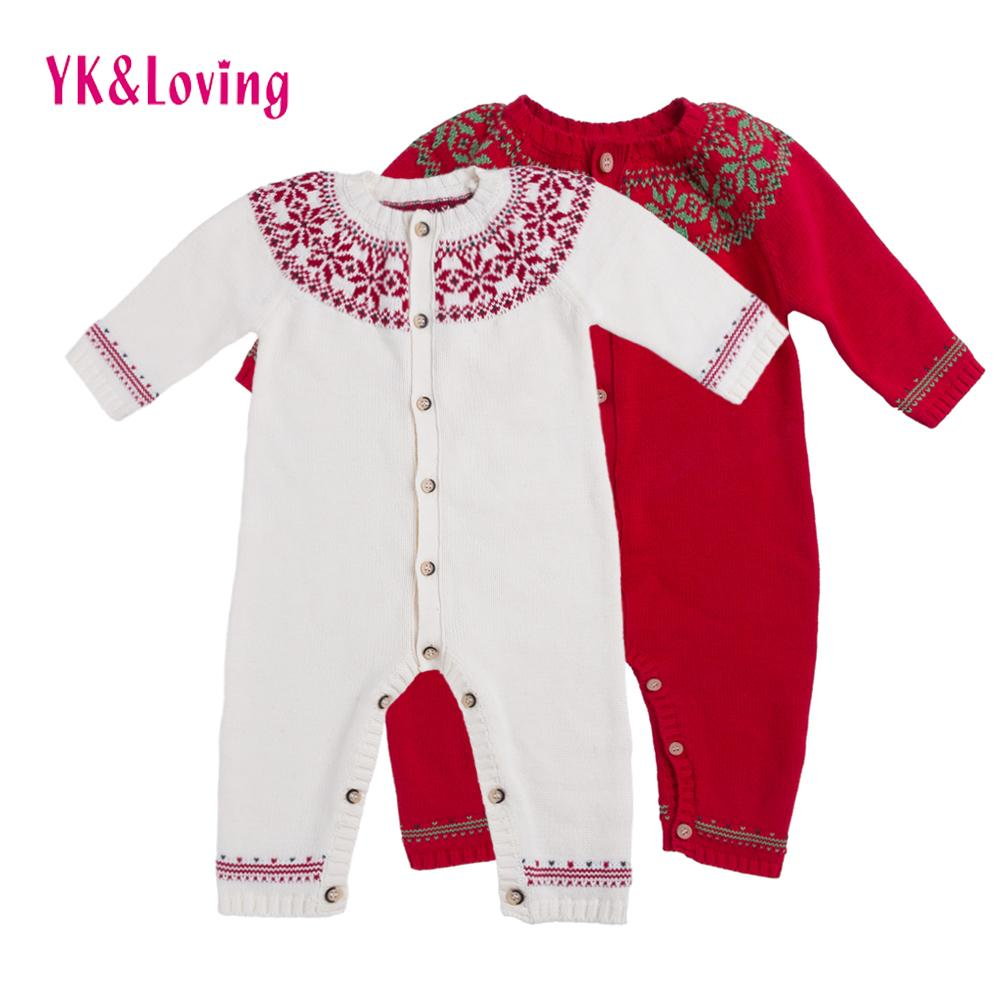 798ae638f019 2019 Christmas Baby Unisex Overall White Sweater Wool Thick Warm ...