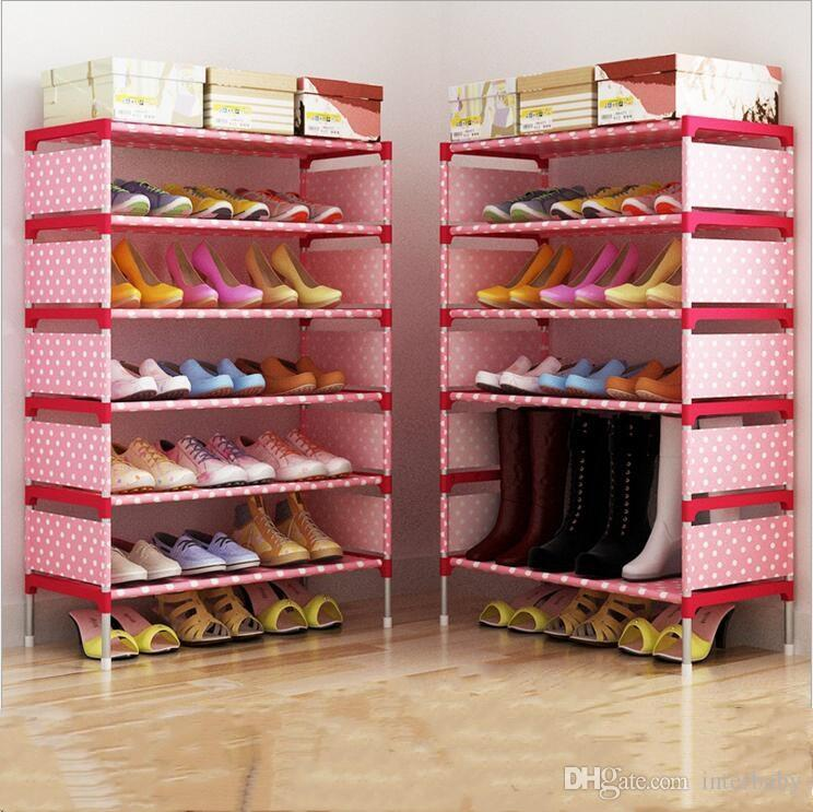 Online Cheap Shoe Cabinet Fashion Storage Closet Home Shoe Rack Kids  Bedroom Shoes Organizer Sitting Room Nonwoven Shoes Shelf Holder Creative  B2279 By ...