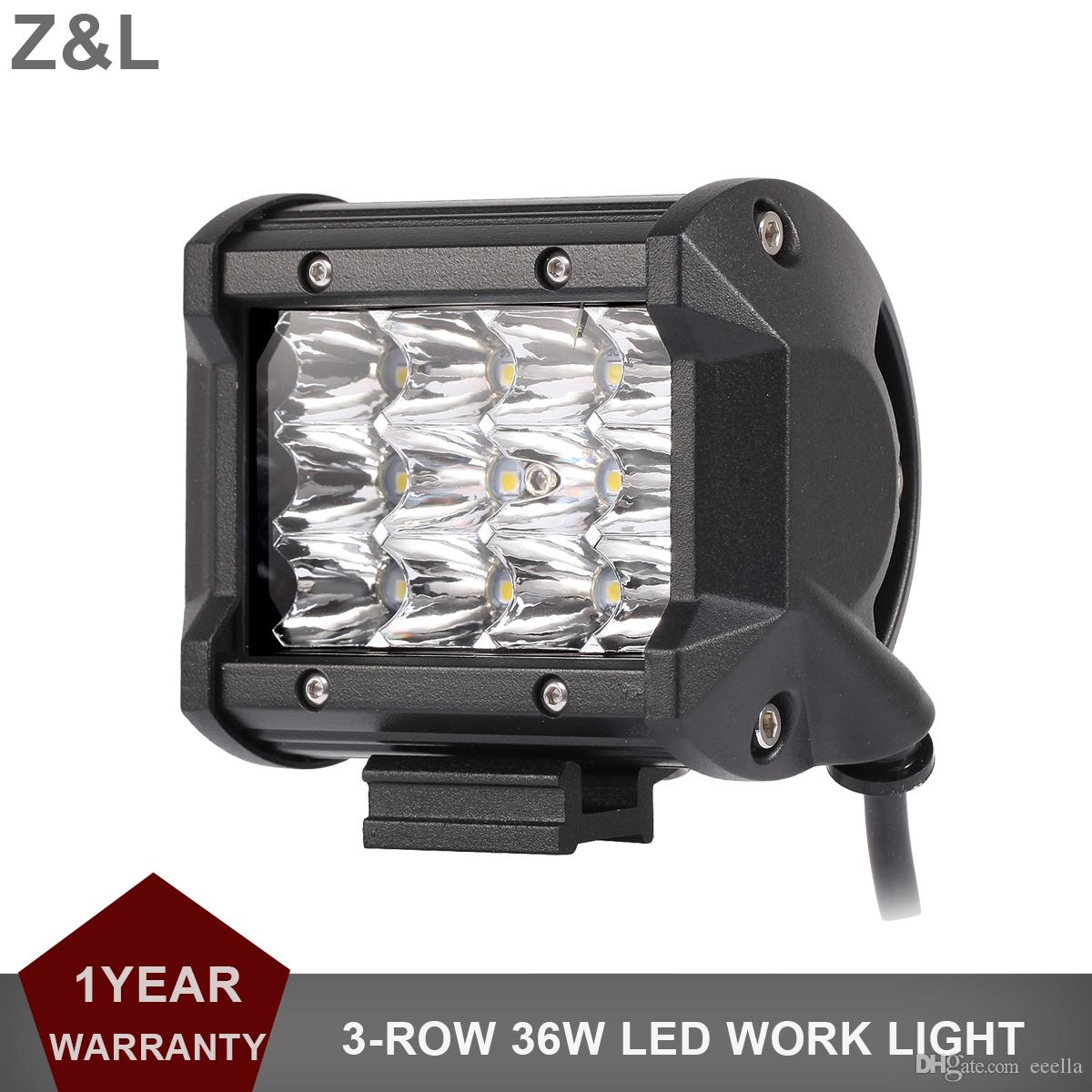 4 Inch Offroad 36w Led Work Light Bar Car 12v 24v Driving Headlight ...