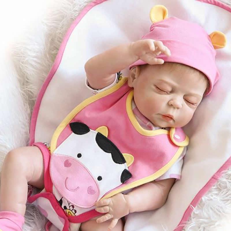 d1cba836116fc Acheter Vraie Real Réaliste Reborn Baby Doll 23 Pouces Entièrement En  Silicone Vinyle Bébés Bébés Brinquedo Bebe Enfants Cadeau De Noël  D anniversaire De ...