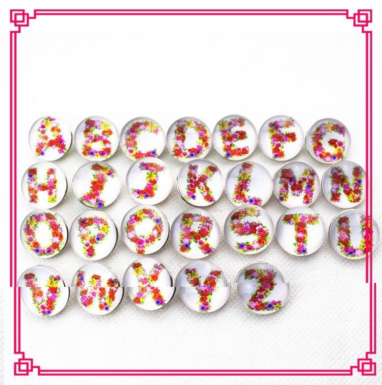 حار بيع 26 قطعة / الوحدة مزيج خطابات A-Z التقط أزرار diy 18 ملليمتر المفاجئة قلادة braceletbangles diy التقط مجوهرات سحر