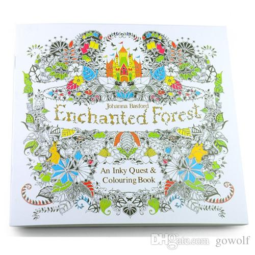 2017 New 4 Designs Adult Coloring Books Secret Garden Animal Kingdom Fantasy Dream Enchanted Forest 24 Pages Kids Painting Colouring Book From Gowolf