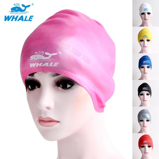 811739d4c12 2019 Wholesale Whale Brand Silicone Swim Cap Protect Ear Guard For Long  Hair Swimming Hat Women Waterproof Sports Beach Pool Unisex Bathing From  Ranshu, ...