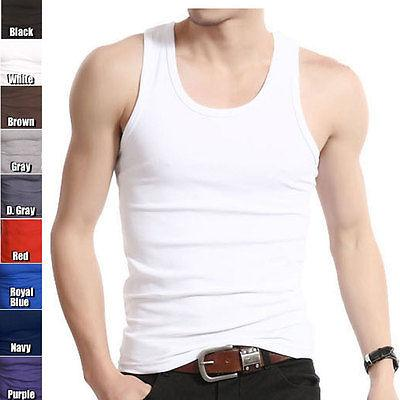 831f1da115c5e1 Wholesale- Muscle Men Top Quality Cotton A-Shirt Wife Beater Ribbed Tank Top
