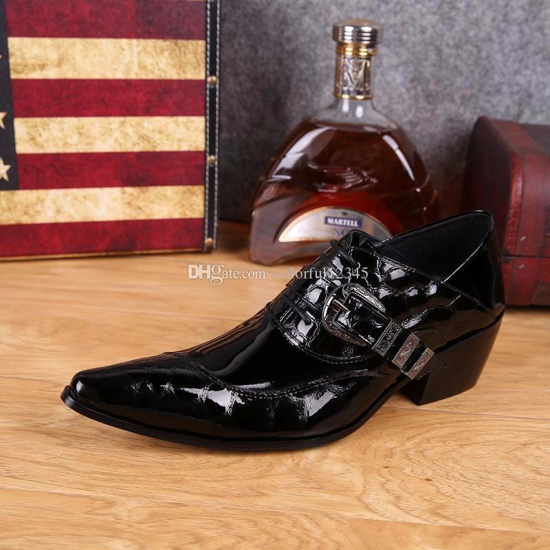 Mode Mans Schwarz Oxfords Schuhe Aus Echtem Leder Männer Kleid Schuhe Spitz Business Style Herbst Stiefel Hohe Qualität Big 38-46