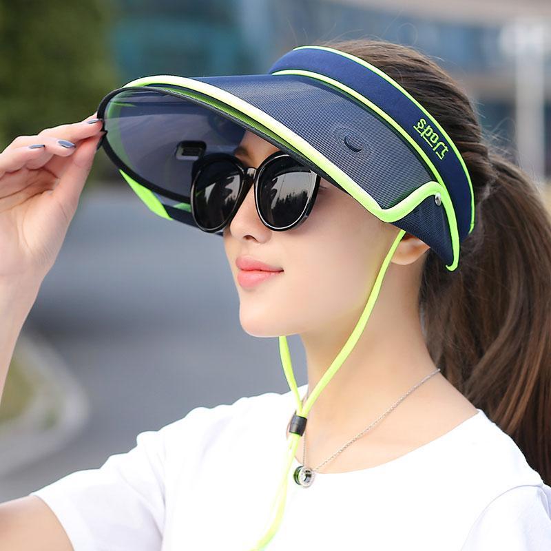 Wholesale Retractable Sun Hat Visor Summer Empty Top Hats Fashion Visors  Women Foldable Wide Brim With Ears Rolled Visor Hat Plastic Uv Sunhat Eric  Javits ... b127ff73ea93