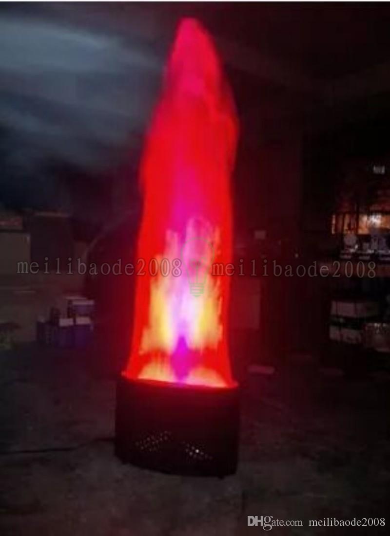 Macchina del fuoco del LED con la macchina della fiamma della fase di seta di 1.5meter * 10mm ha condotto la macchina di effetto del fuoco Attrezzatura del DJ Luce del fuoco di seta leggera del DJ