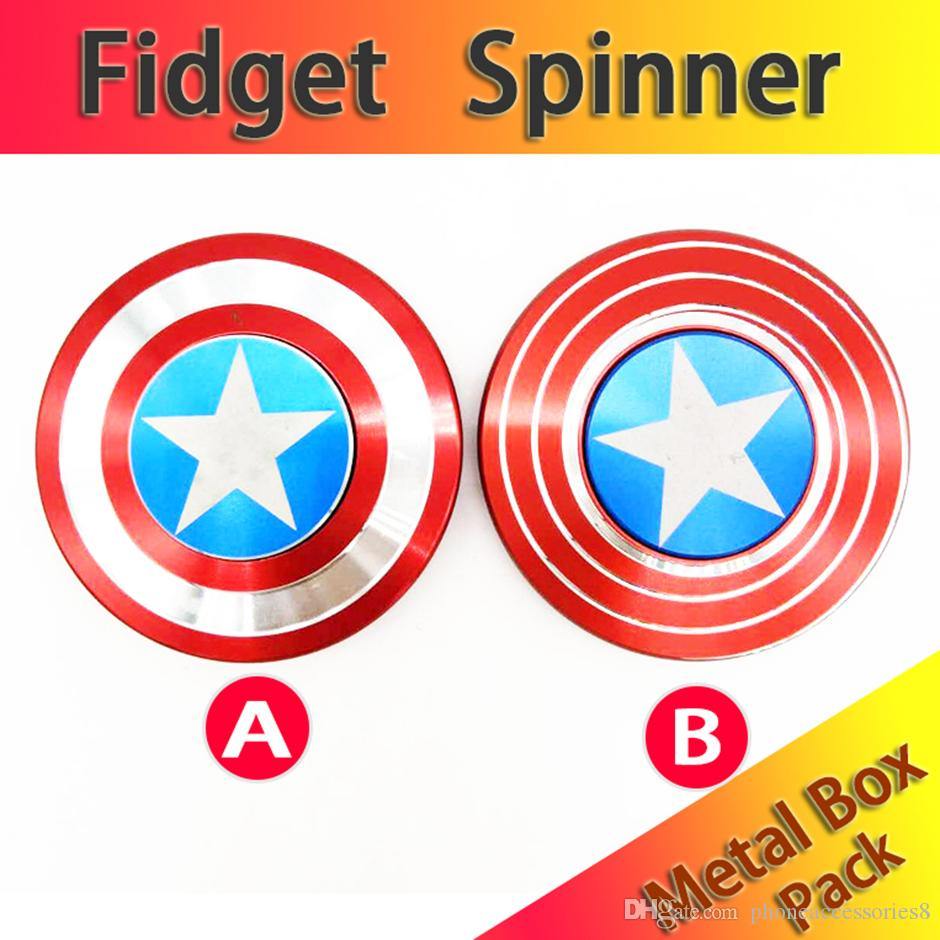 cheap hand fidget spinner metal finger stress spinner captain
