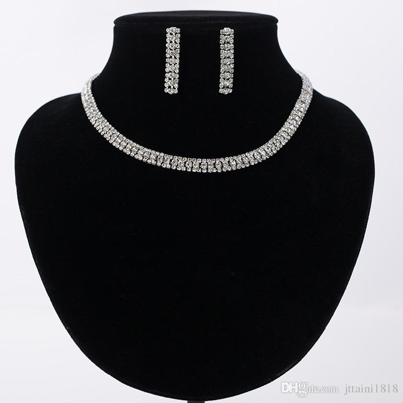 Ensemble de bijoux de mariage élégant de luxe, y compris e de boucles d'oreilles fleur 1 Collier de déclaration CZ pierre nuptiale