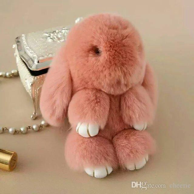d1277d3025f0 2017 новая мода кролика брелок для сумки, Сумка вешалка, кролик меховые  игрушки, горячая продажа кролика мех брелок для украшения