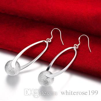 Al por mayor - precio más bajo regalo de Navidad 925 pendientes de moda de plata de ley yE133