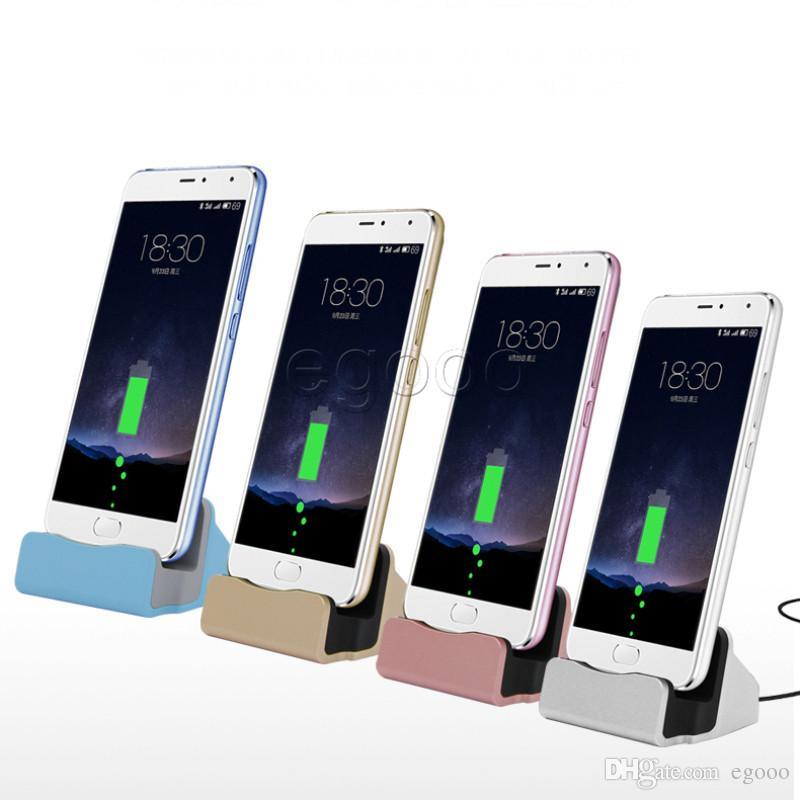 Universal Carregador Rápido suporte Docking Station Cradle de carregamento de sincronização doca para Samsung S6 S7 borda Nota 5 Tipo C Android Com Retail Box