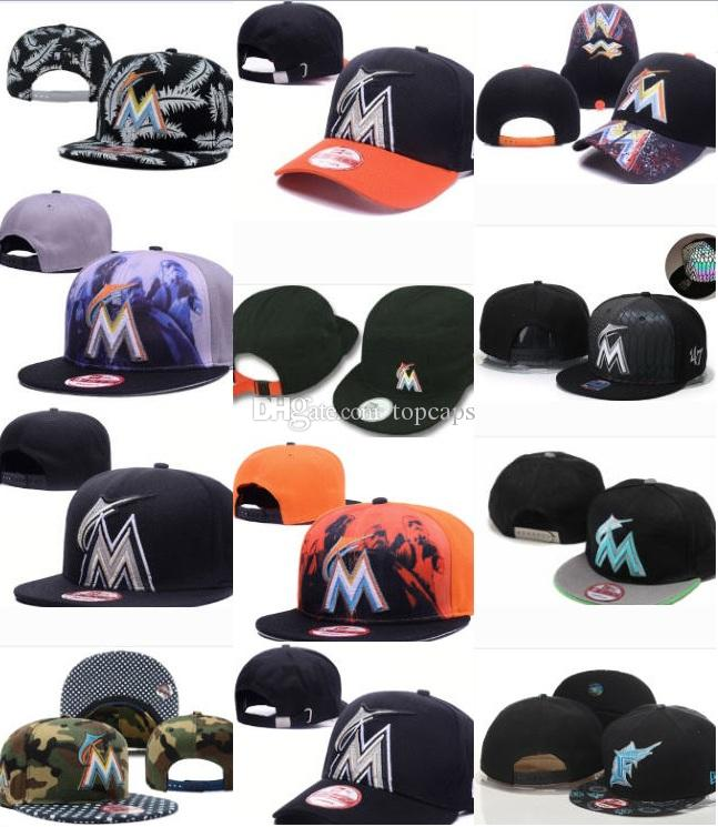 2019 FLORIDA MARLINS Baseball Snapback All Teams Football Snapback Hat  Basketball Cap Men Women Adjustable Cap Sport Cap DHL Shipping From  Topcaps 92ee2c71d08