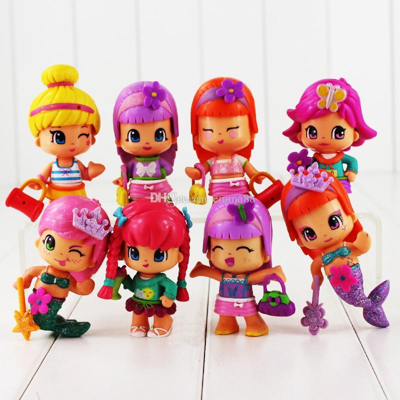 Linda princesa Mini Q versión figura juguete sirena PVC figura de acción modelo de juguete para niños regalo envío gratis retail