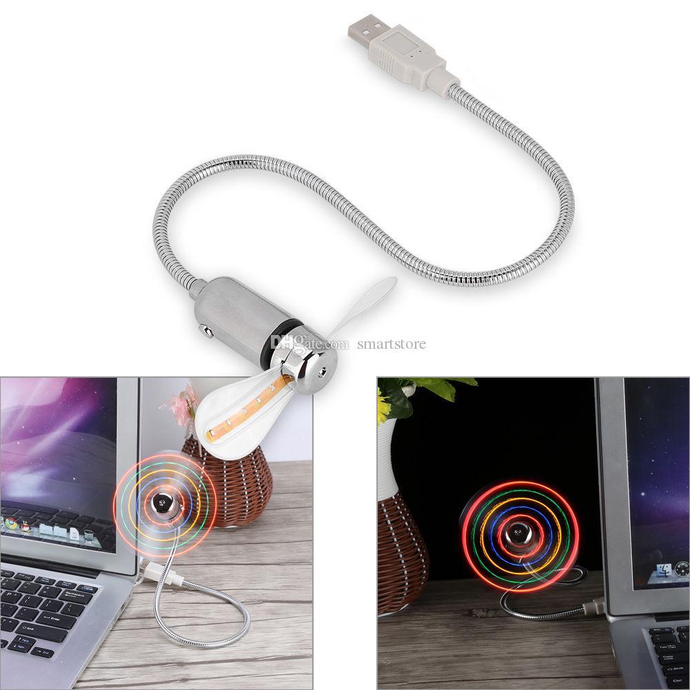 mini portatile flessibile piegabile del USB del computer del computer del taccuino del PC portatile luci leggere del LED Trasporto libero 0001
