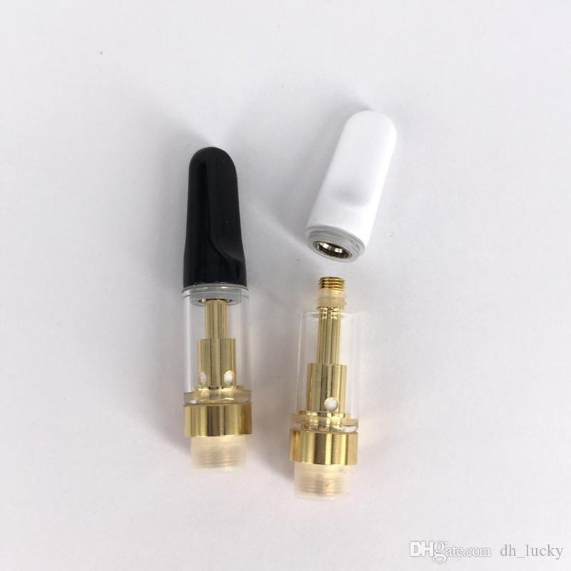 Gold Vaporizer Pen Cartridge Vapor Cartridge Th205 510 Oil Cartridg Ceramic  Coil Wickless Oil empty cartridge Vape Packaging a foam box