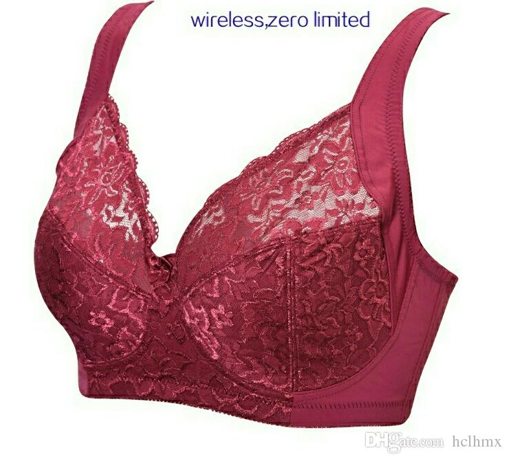 for plump big bust women bra plus lingerie womens bralette lace wine red hot sexy bra retail wireless europe America