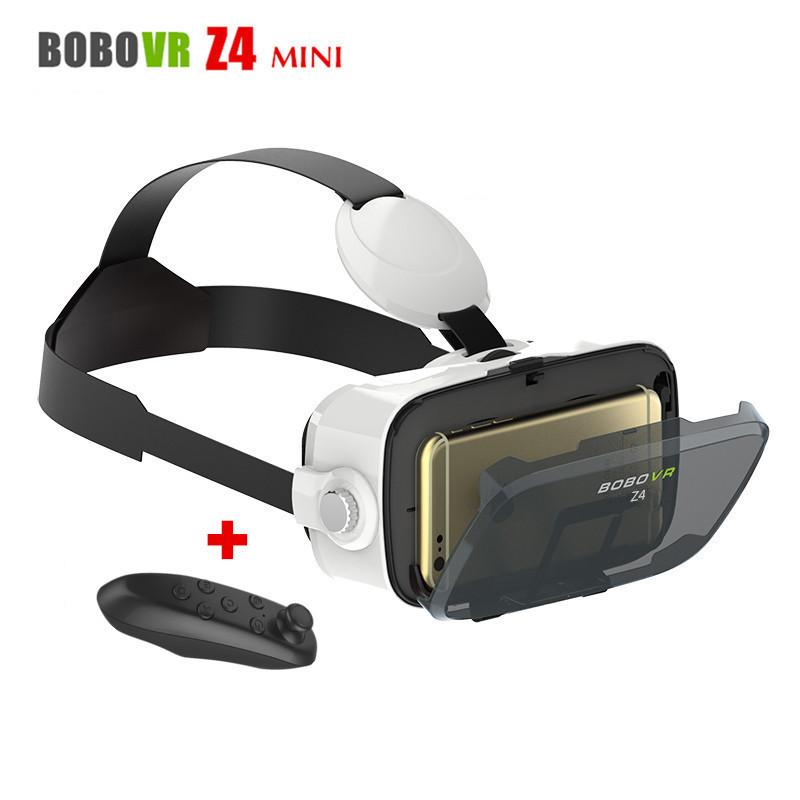 3901efd5bb37 Head Mounted Cardborad BOBOVR Z4 Mini Mobile 3D Video Helmet Virtual  Reality Glasses VR Headset For 4.7 6 Smart Phone+Controller Virtual 3d  Glasses 3d ...
