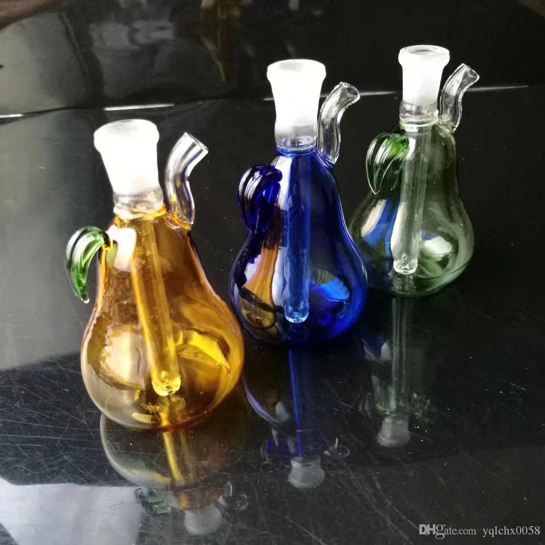 El nuevo mini bote de pera, bongs de vidrio al por mayor, pipa de agua de vidrio, accesorios de tubería humo