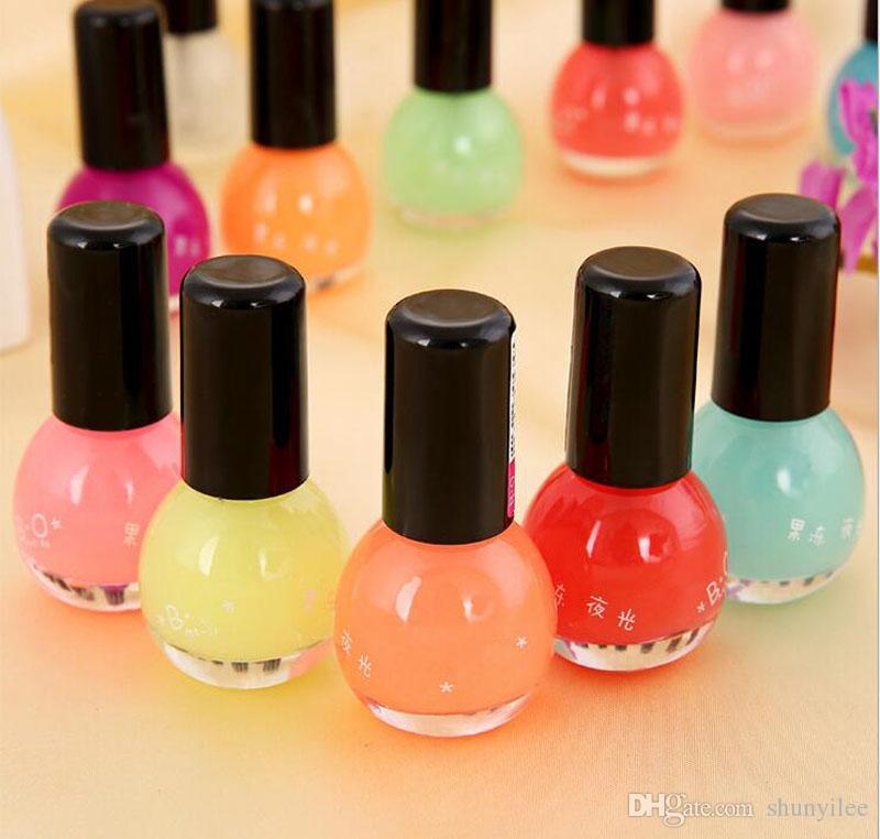 8 ml i donne trucco fluorescente al neon gel luminoso smalto unghie colorante di caramelle olio unghie nel buio regalo della festa nuziale zA1667
