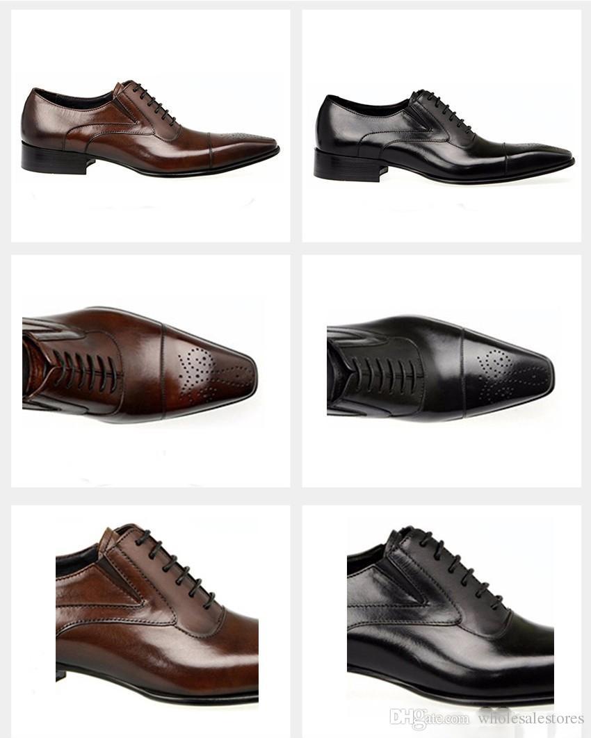 Mode Italienische Männer Schuhe Aus Echtem Leder Herren Kleid Schuhe Verkäufe Geschnitzte Designer Hochzeit Männlichen Oxford Schuhe Männer Wohnungen
