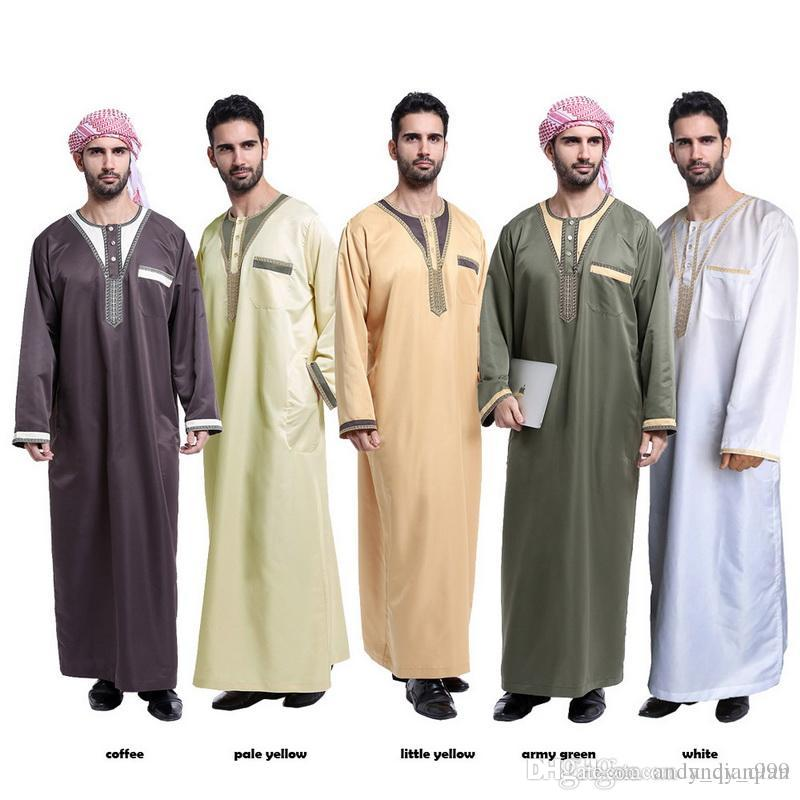 2018 muslim arab middle east mens robes solid color round neck 2018 muslim arab middle east mens robes solid color round neck new ethnic clothing islamic traditional fashion from andyqian999 1807 dhgate sciox Images