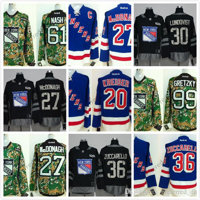 New York Rangers Jerseys Hockey 99 Wayne Gretzky 20 Chris Kreider 27 ... e5f752ec9