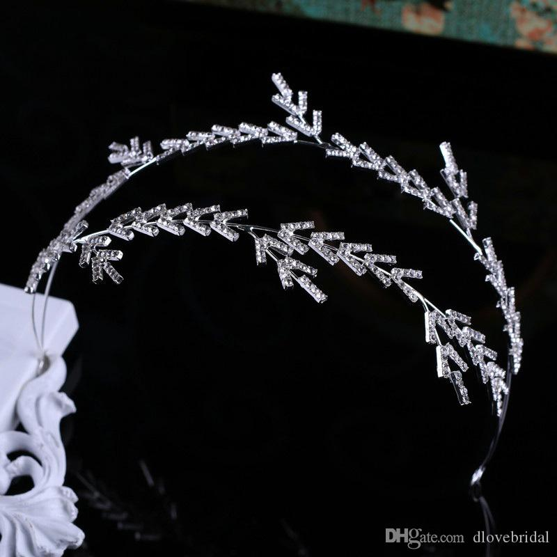 New Arrival Elegant Baroque Rhinestone Tiara Crown Wedding Party Prom Homecoming Crowns Princess Bridal Tiaras Hair Accessory