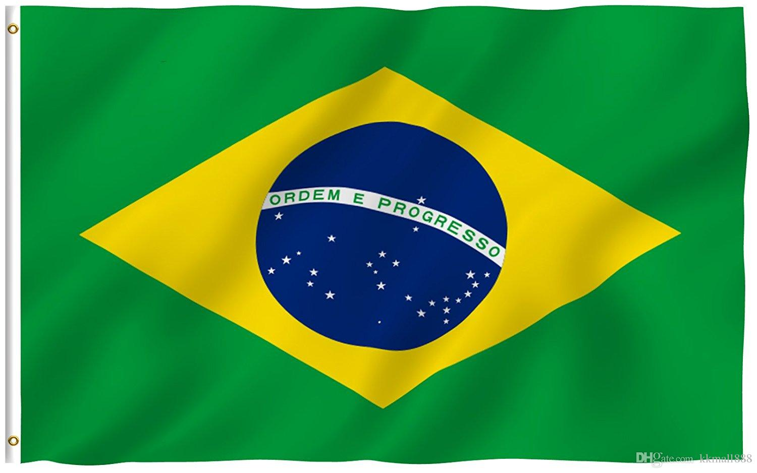 2018 3x5 Foot Brazil Flag Banner Double Sided Vivid Color ...