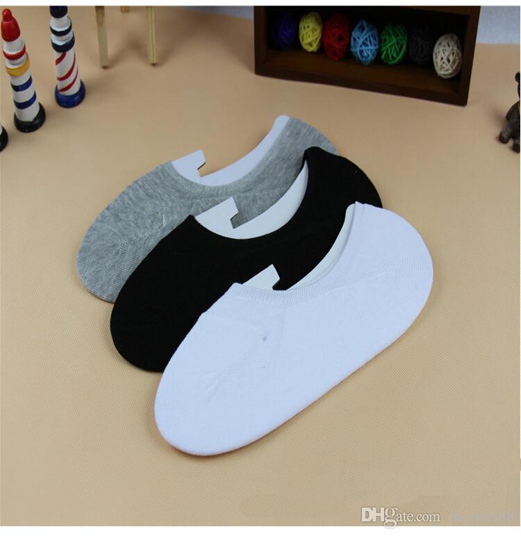 Toptan ücretsiz kargo Sıcak Unisex Bay Bayan Low Cut Ayak Bileği Çorap Rahat Yumuşak Pamuklu çorap Loafer Tekne Kaymaz Görünmez 3 Colo