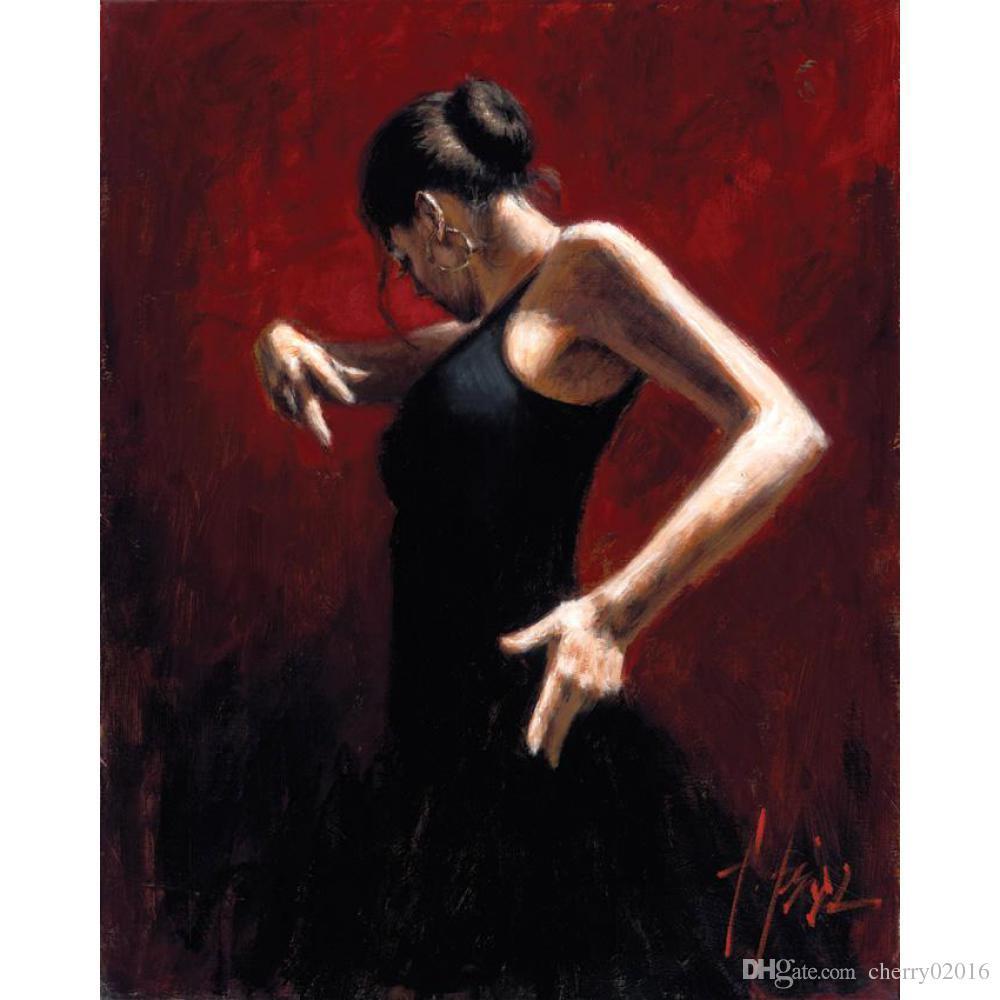 Acheter Tableau De Femme Fait Main Danseuse De Flamenco Huile Sur