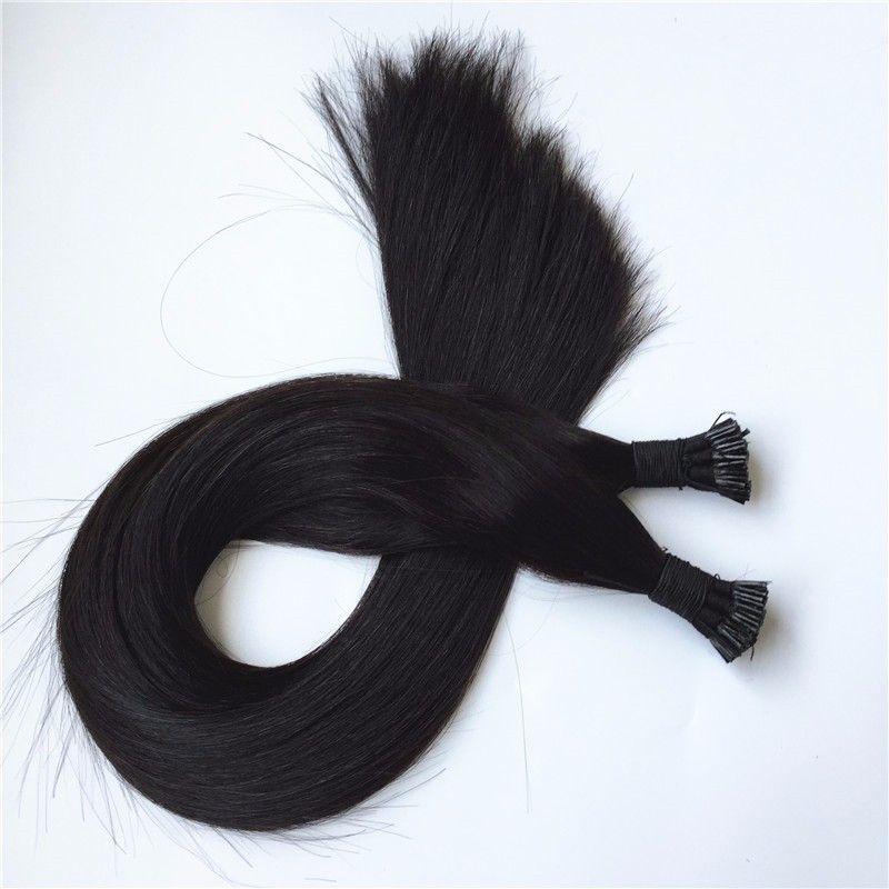 Grade 10A - Double Drawn 100% Echthaar Hot Fusion Ich spitze in Haarverlängerungen 12 '' - 26