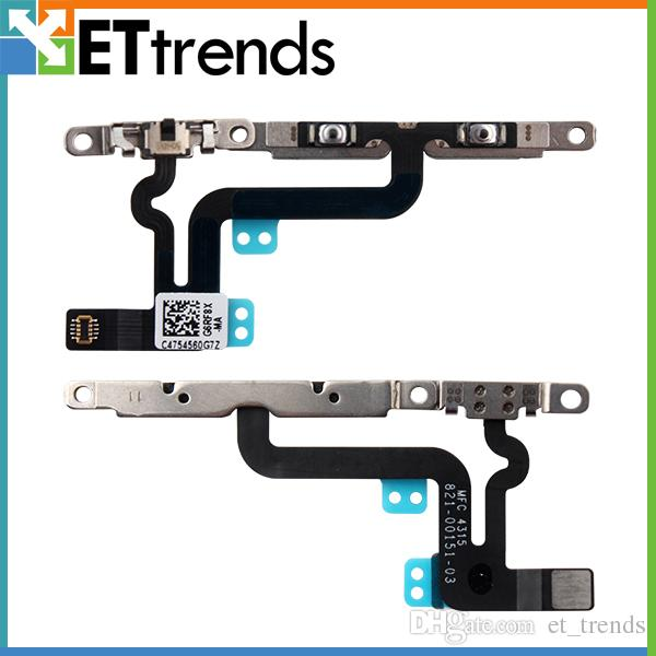100% original volume chave flex cable ribbon com peças de reparo para o iphone 6 s plus volume cabo flex com peças de reparo frete grátis por dhl