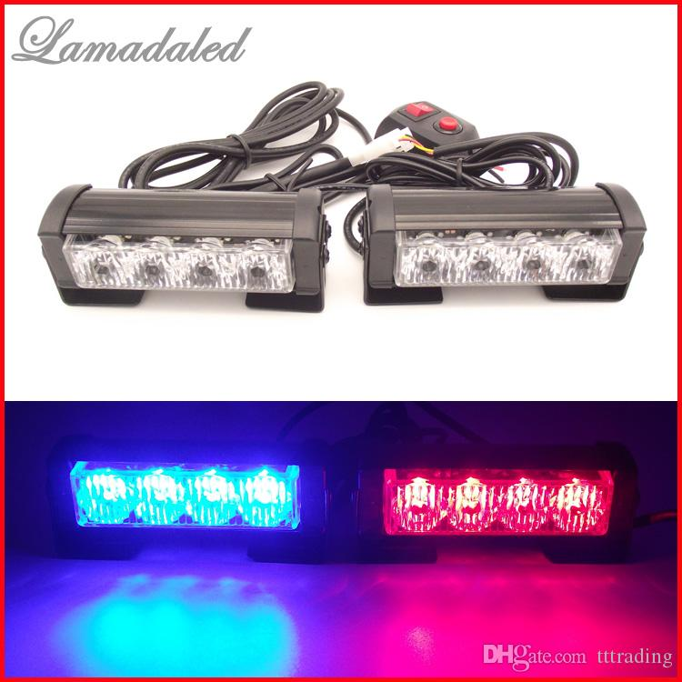 2x4 led police strobe lights vehicle strobe light car warning lights led emergency strobe lights. Black Bedroom Furniture Sets. Home Design Ideas
