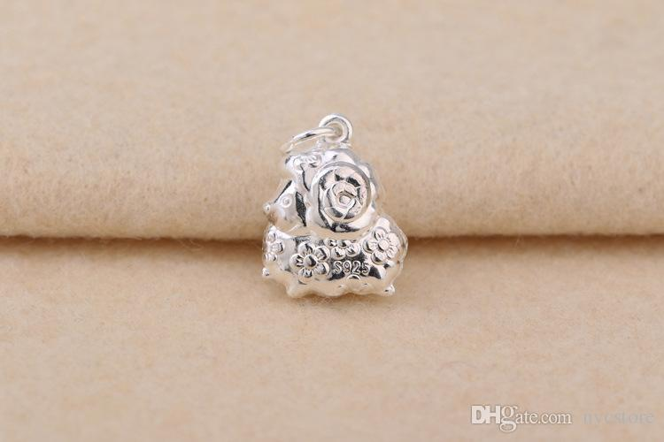 S925 sterling silver Chinese Zodiac 12 Animals pendant charms for kids women fashion jewelry components