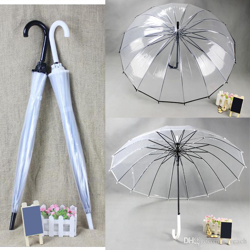 6fb14e190 2019 Long Handle Transparent Clear Umbrella, Creative Sun And Rain Umbrella  Women Girls Outdoor Tools Black White From Saveach, $9.88 | DHgate.Com