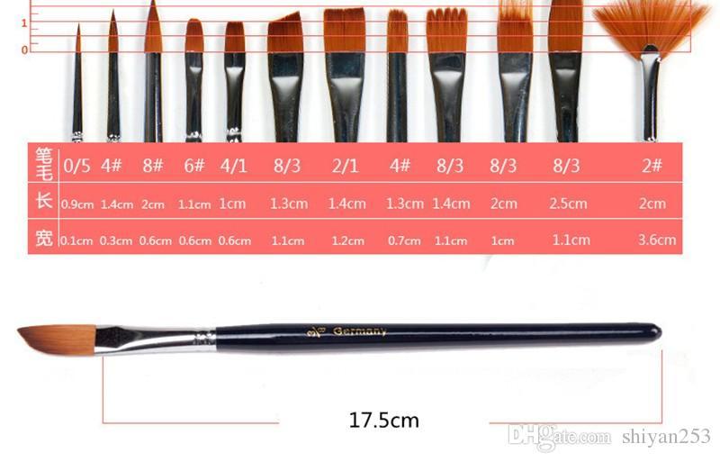 Nail Art Pen bottle Nylon Hair Painting Brush Variety Style Short Rod Oil Acrylic Brush Watercolor Pen Art Supplies