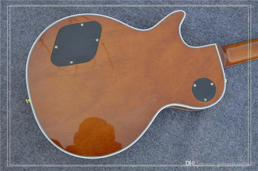 Nova Arriva, Alta Qualidade OEM Personalizado Guitarra Elétrica com Top De Bordo Spalted, Antique Natural, Encadernação, frete grátis