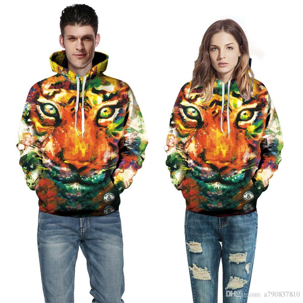 couple chemise Hommes Femmes Vêtements Fine qualité 3D imprimé animal Sweat à capuche personnalisé 3D stéréoscopique créatif Baseball hoodies sweat WY001